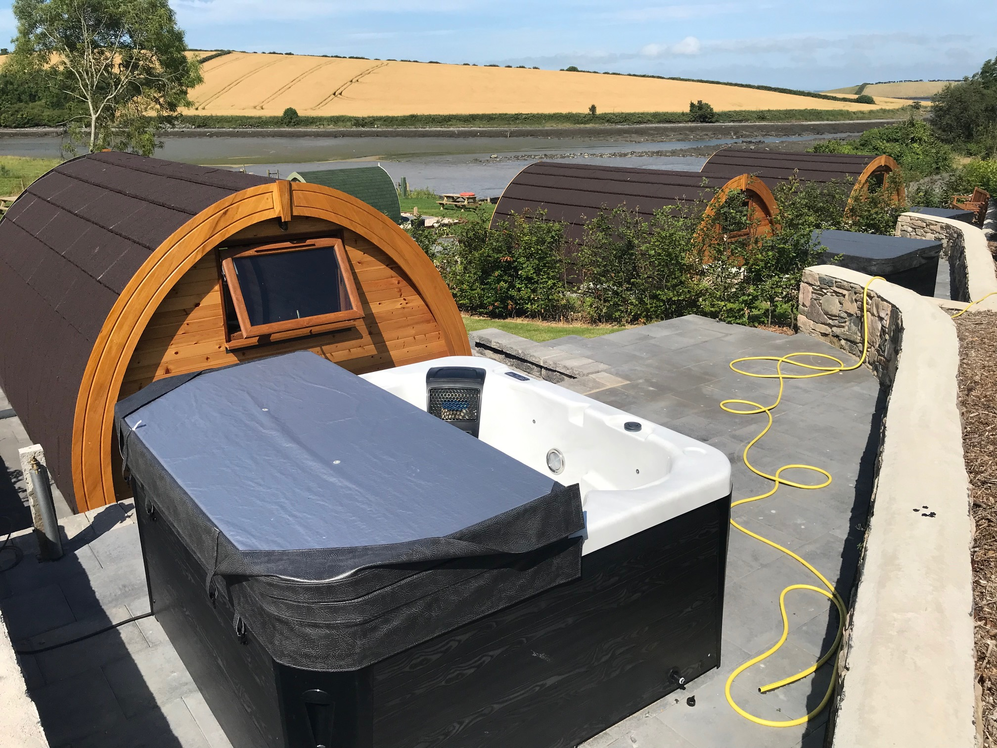 Hot tub and pods view