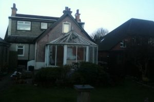 Old conservatory before